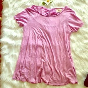 NWT pink Anthropologie short sleeved tee Small